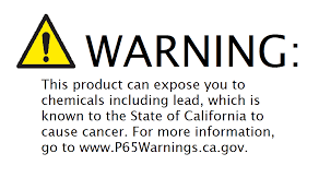 CA Prop 65 Warning Label