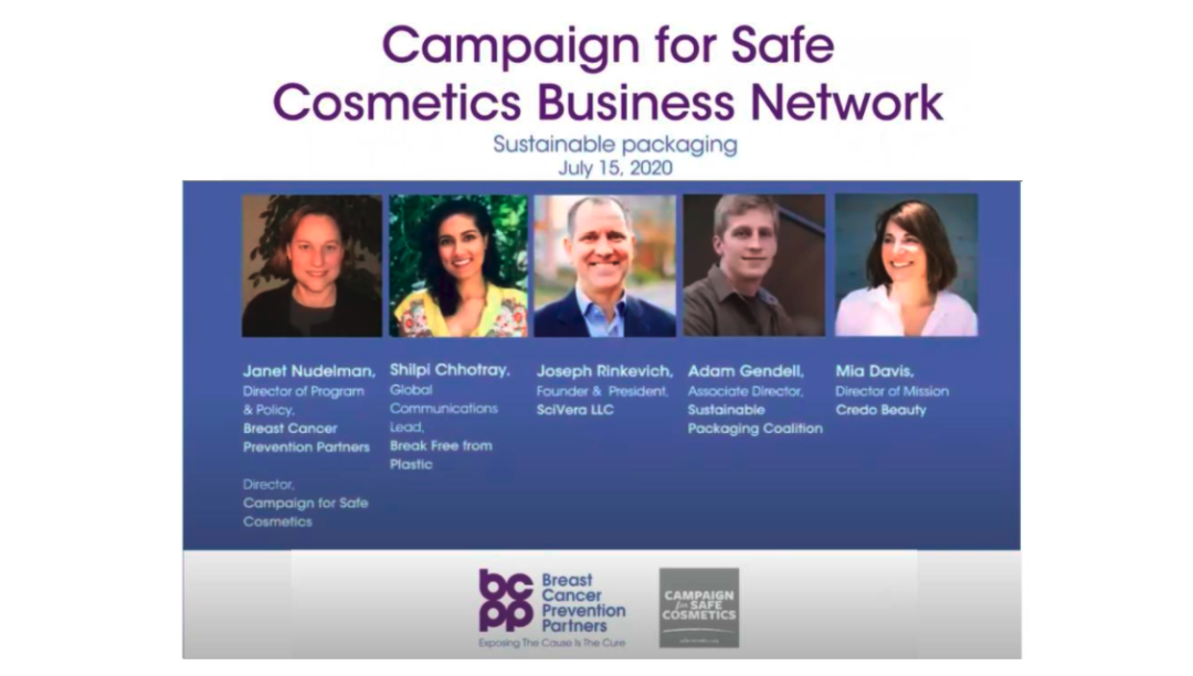 Campaign for Safe Cosmetics webinar on sustainable packaging highlights safer chemicals selection